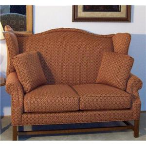 High Wing Back Settee with Rolled Arms