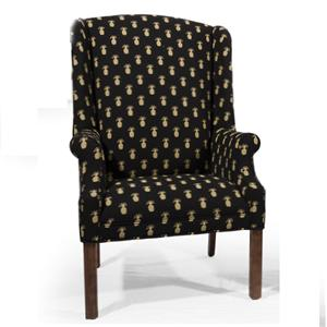 Wing Back Chair with Chippendale Legs