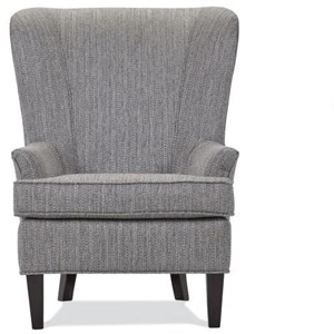Upholstered Chair with Tall Legs