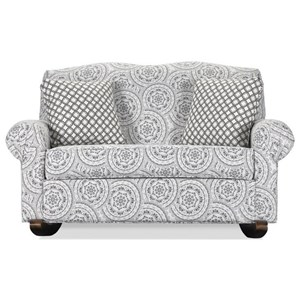 Transitional Rocking Loveseat