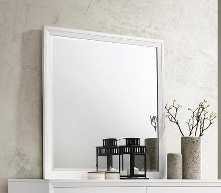 Grant White Mirror by Lane at Sam Levitz Furniture