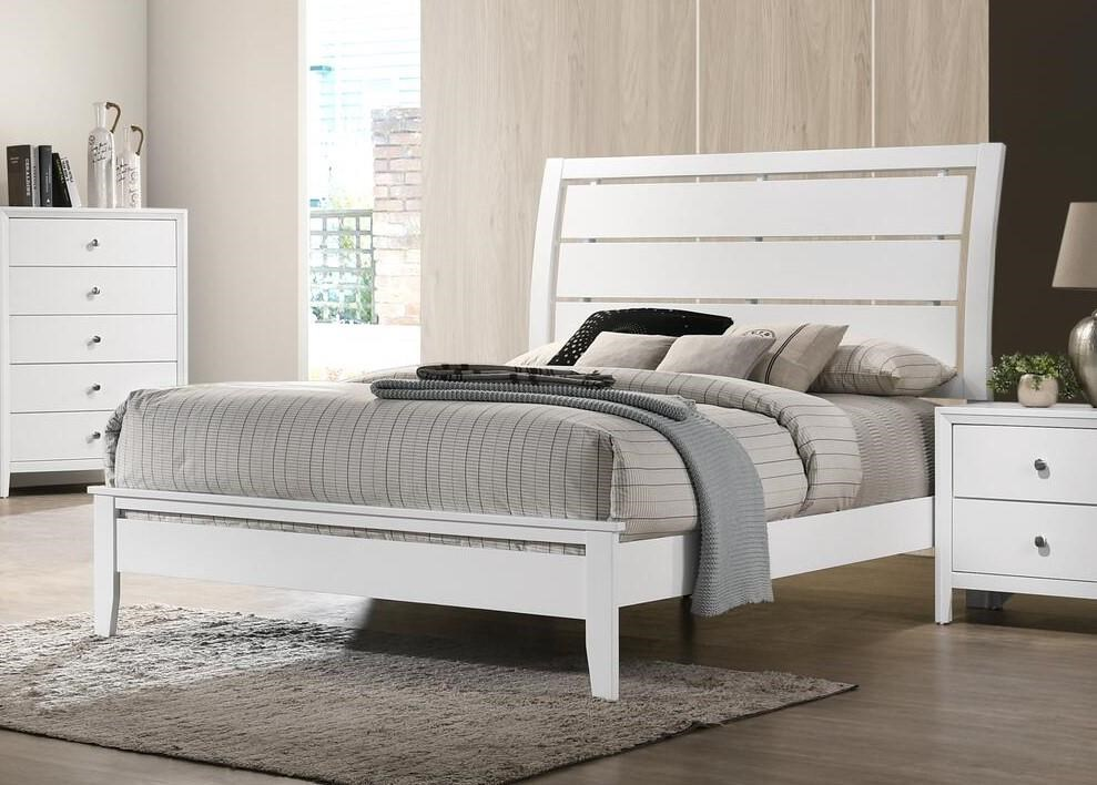 Grant White Queen Bed by Lane at Sam Levitz Outlet