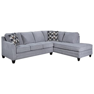Transitional 2-Piece Sectional with RAF Chaise