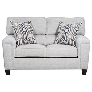 Casual Contemporary Stationary Loveseat