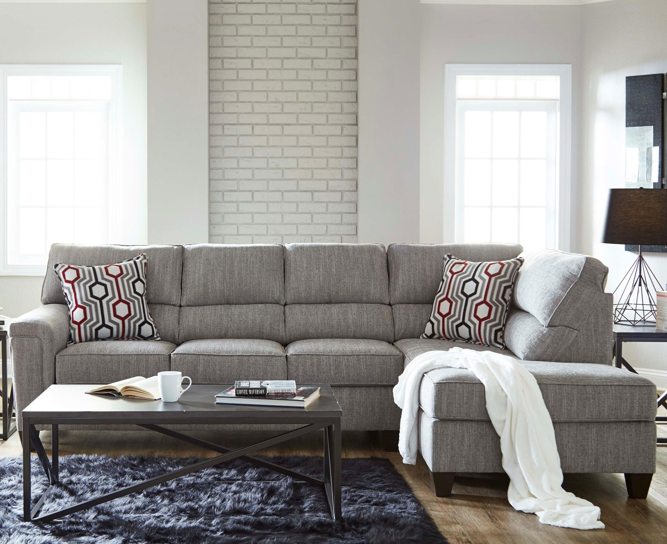 2015 Sectional with Bump Chaise by Lane at Powell's Furniture and Mattress