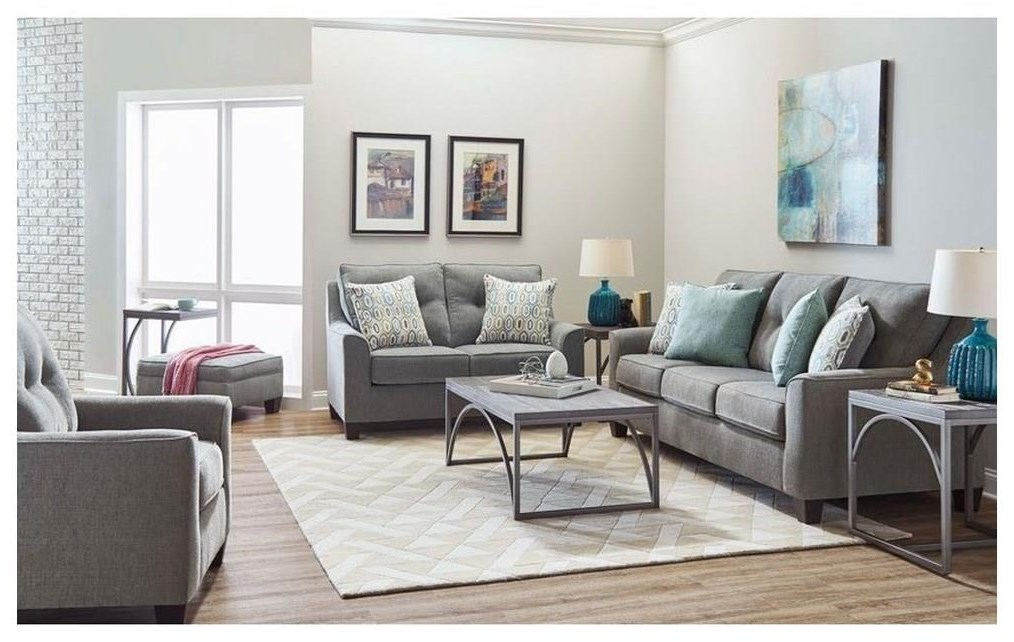 2019 Sofa and Loveseat Set by Lane at Sam Levitz Outlet