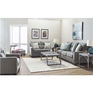 Sofa, Loveseat, Chair and Storage Ottoman Set