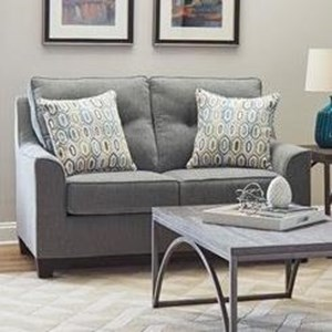 Stationary Loveseat with Button Tufting