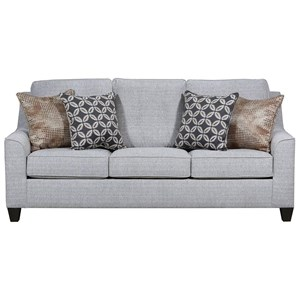 Stationary Sofa with Button Tufting