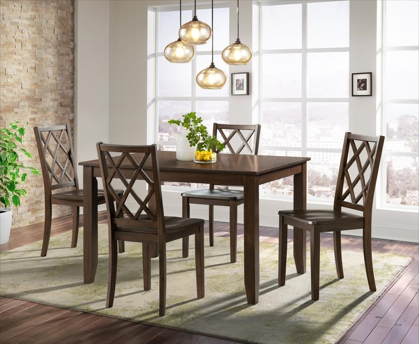5086 Espresso Table x 4 Chairs by Lane at Furniture Fair - North Carolina