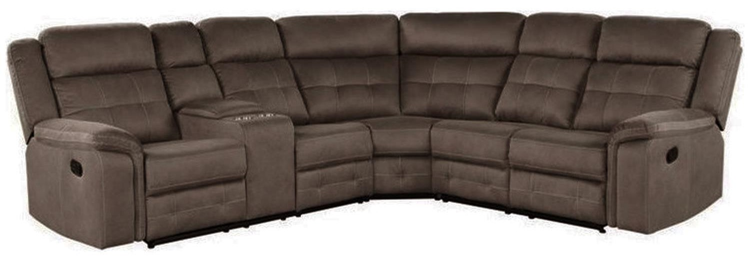 Keystone Reclining Sectional w/ Console at Rotmans