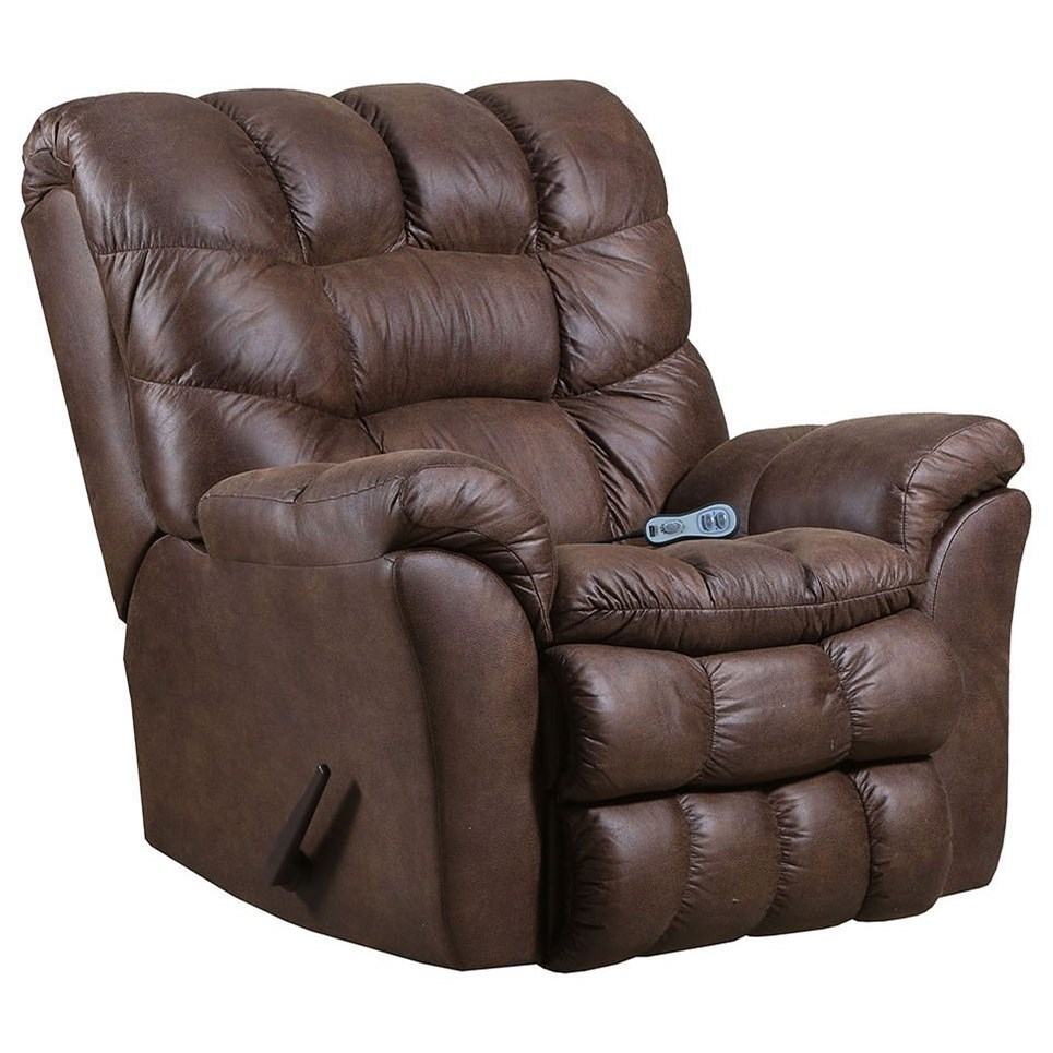 678 Heat and Massage Recliner by Lane at Powell's Furniture and Mattress