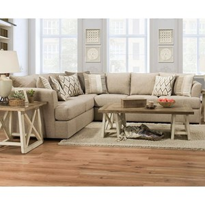 Flare Arm Sectional Sofa