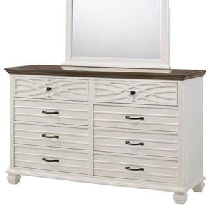 Rustic Casual Dresser with Two-Tone Finish