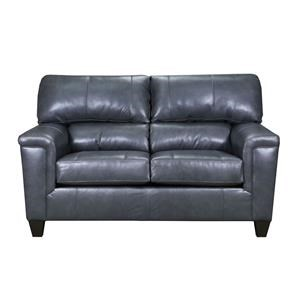 Gray Fog Leather Loveseat