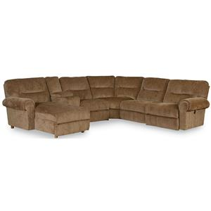 Reclining Sectional with Power Chaise