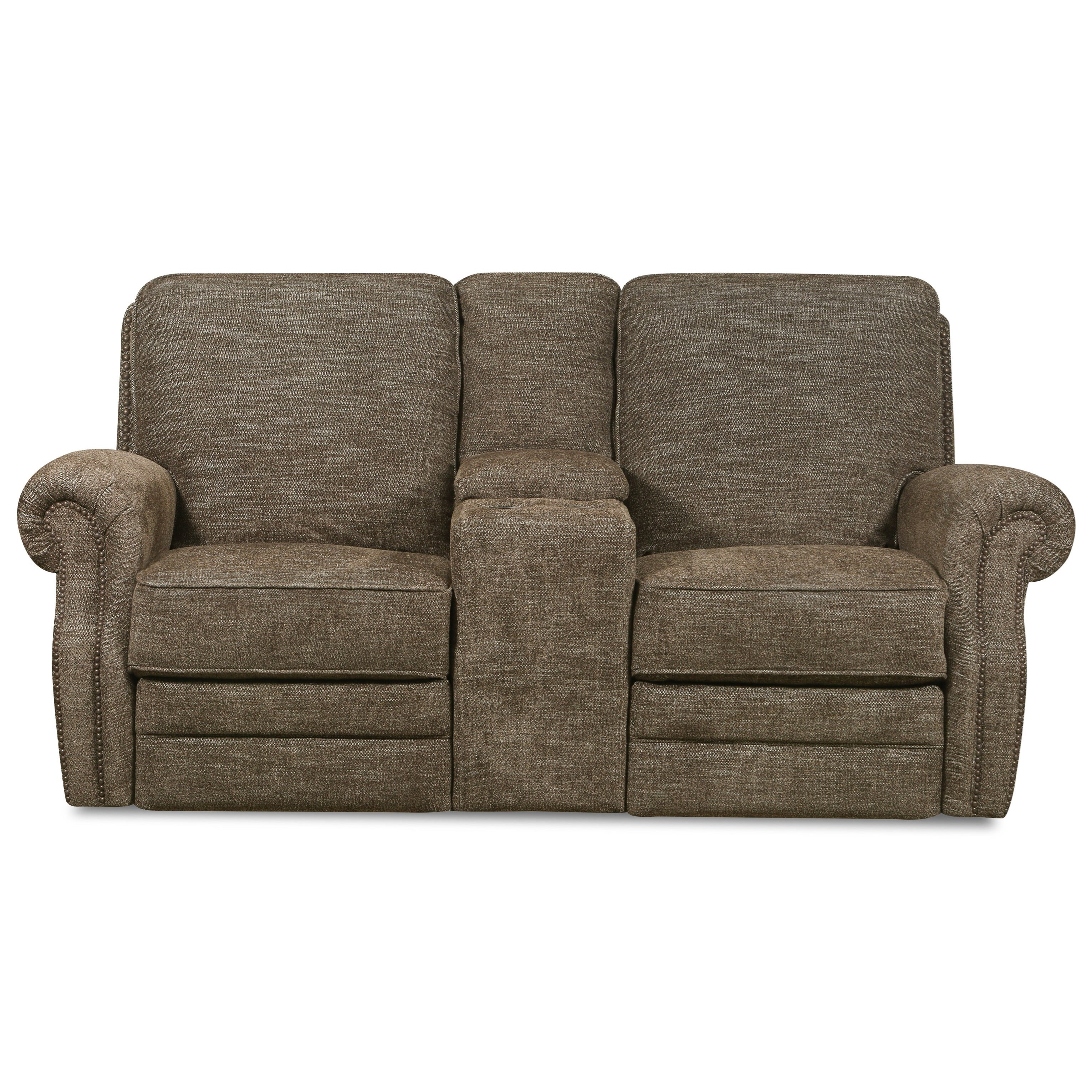 Canterbury Reclining Console Loveseat by Lane at Powell's Furniture and Mattress