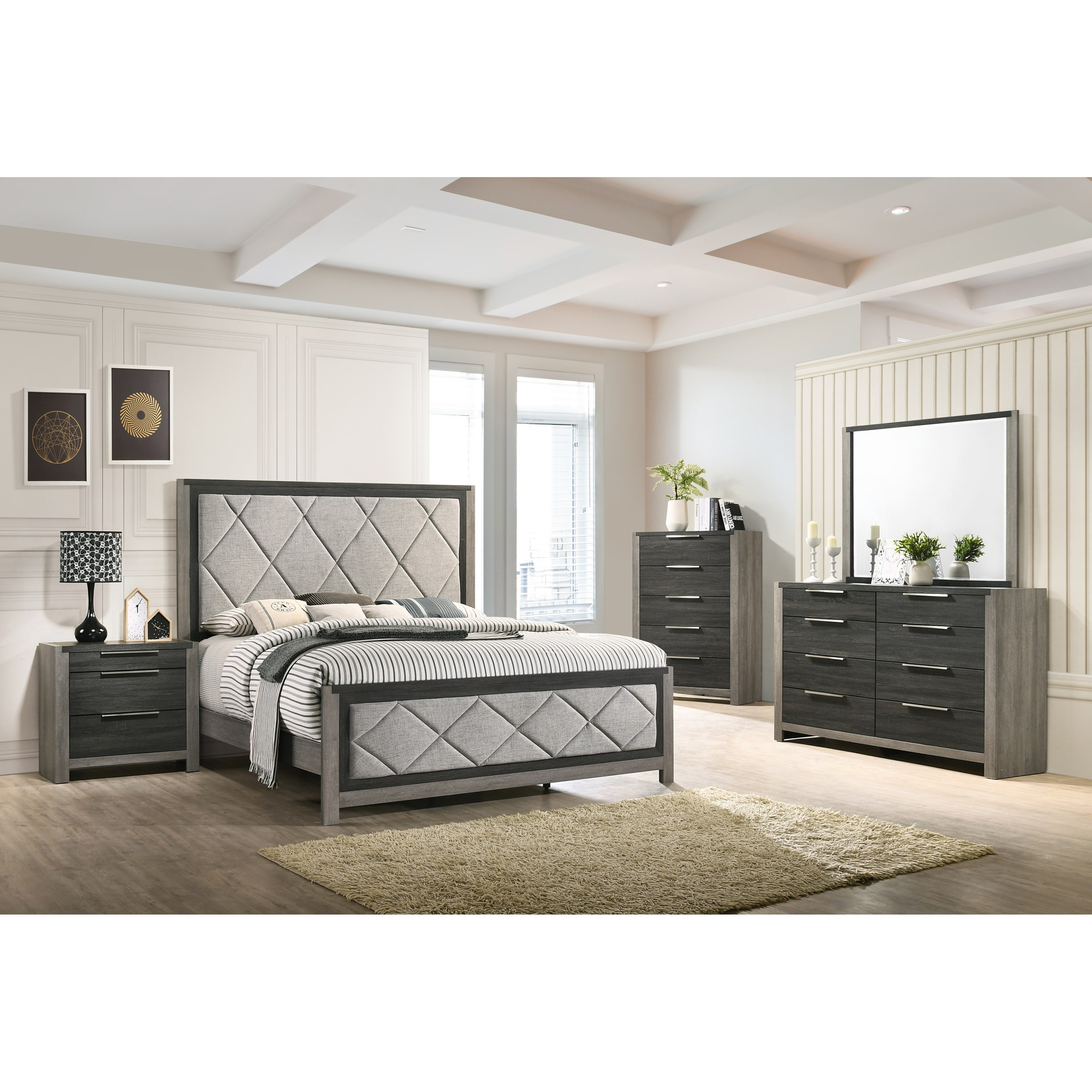 Carter 6 Piece Queen Bedroom by Lane at Household Furniture