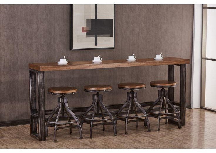 Chandler Console Bar Table and 4 Stools by Lane at Darvin Furniture