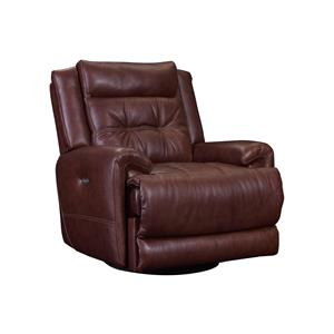 Casual Rocker Recliner with Tufted Seat Back
