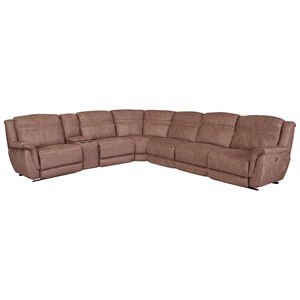 Reclining Sectional with Storage Console