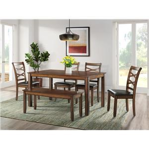 Scottsdale Table, Bench and 4 Chairs