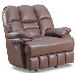 Oversized Rocker Recliner with Red Steel Spring System