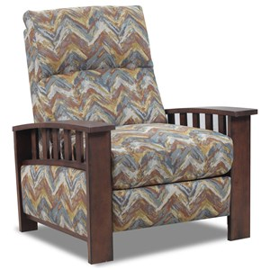 High-Leg Recliner with Wood Slat Sides