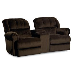 Lane Evans Reclining Rocking Console Loveseat