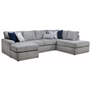 Contemporary 2-Piece Sectional with Chaise