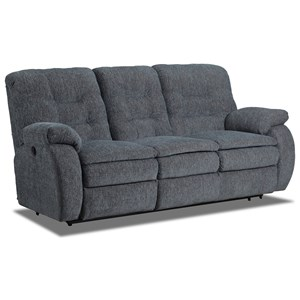 Double Reclining Sofa with Cushioned Arms