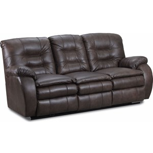 Powerized Double Reclining Sofa with Cushioned Arms