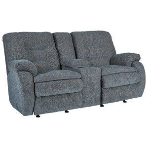 Reclining and Rocking Console Loveseat