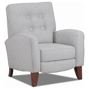 High-Leg Recliner with Button Tufted Back