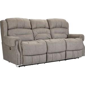 Powerized Double Reclining Sofa with Nail Head Trim
