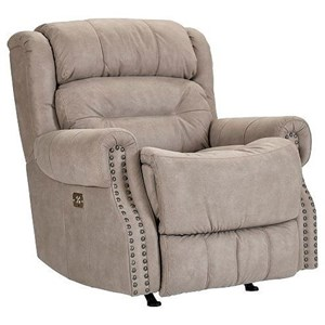 Rocker Recliner with Nail Head Trim