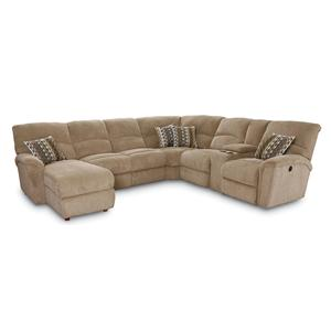 Lane Grand Torino 4 Pc Power Sectional w/ RAF Console Loveseat