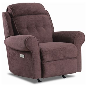 Rocker Recliner with Classic Rolled Arms