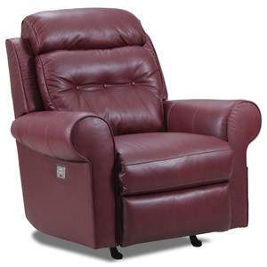 Glider Recliner with Classic Rolled Arms