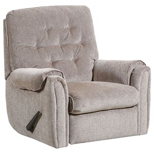 Casual Rocker Recliner with Padded Arms