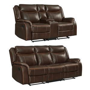 2PC Reclining Sofa & Loveseat Set