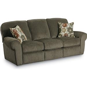 Transititional Double Reclining Sofa