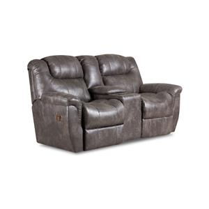 Double Power Reclining Console Loveseat with Storage