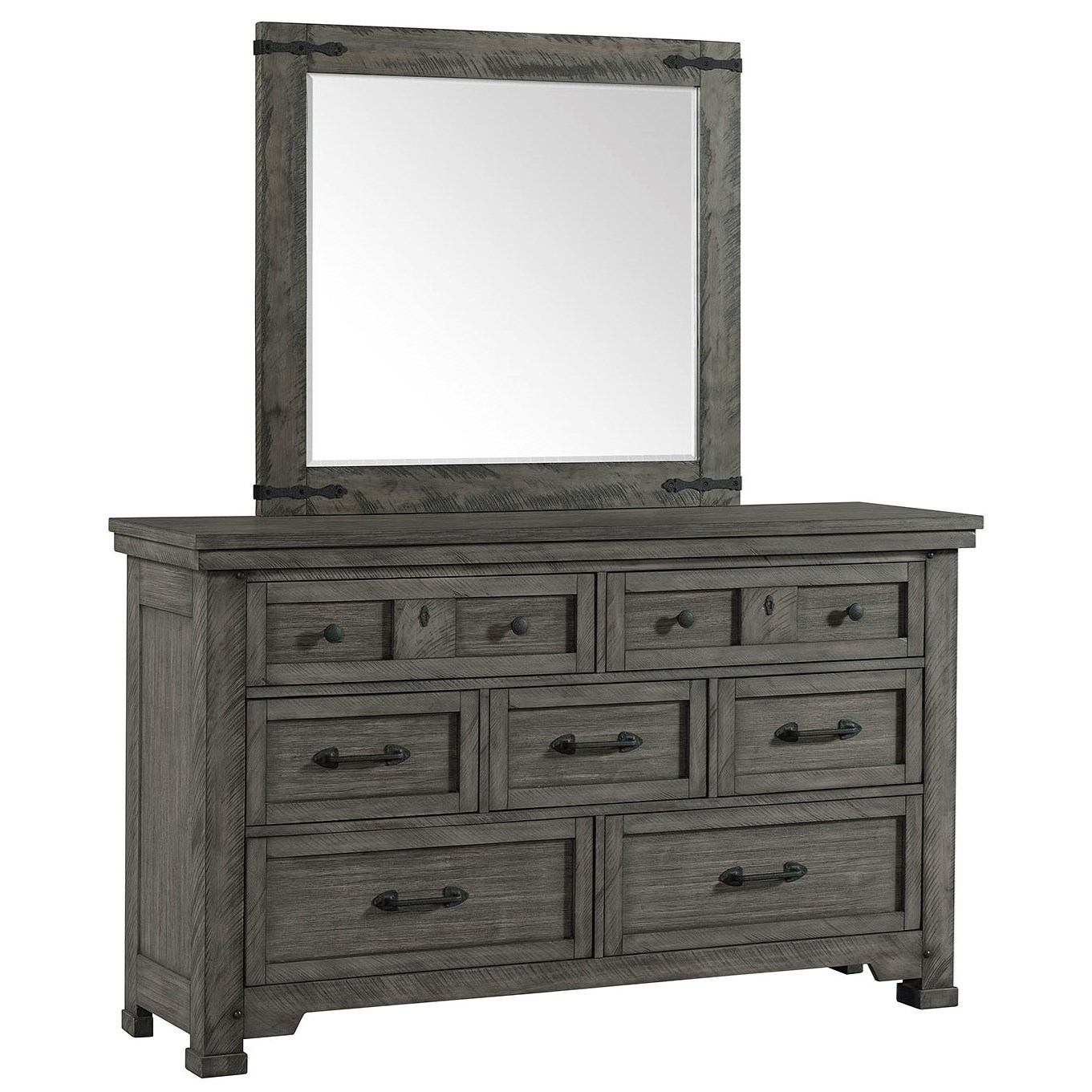 Old Forge Dresser and Mirror Set by Lane at Powell's Furniture and Mattress