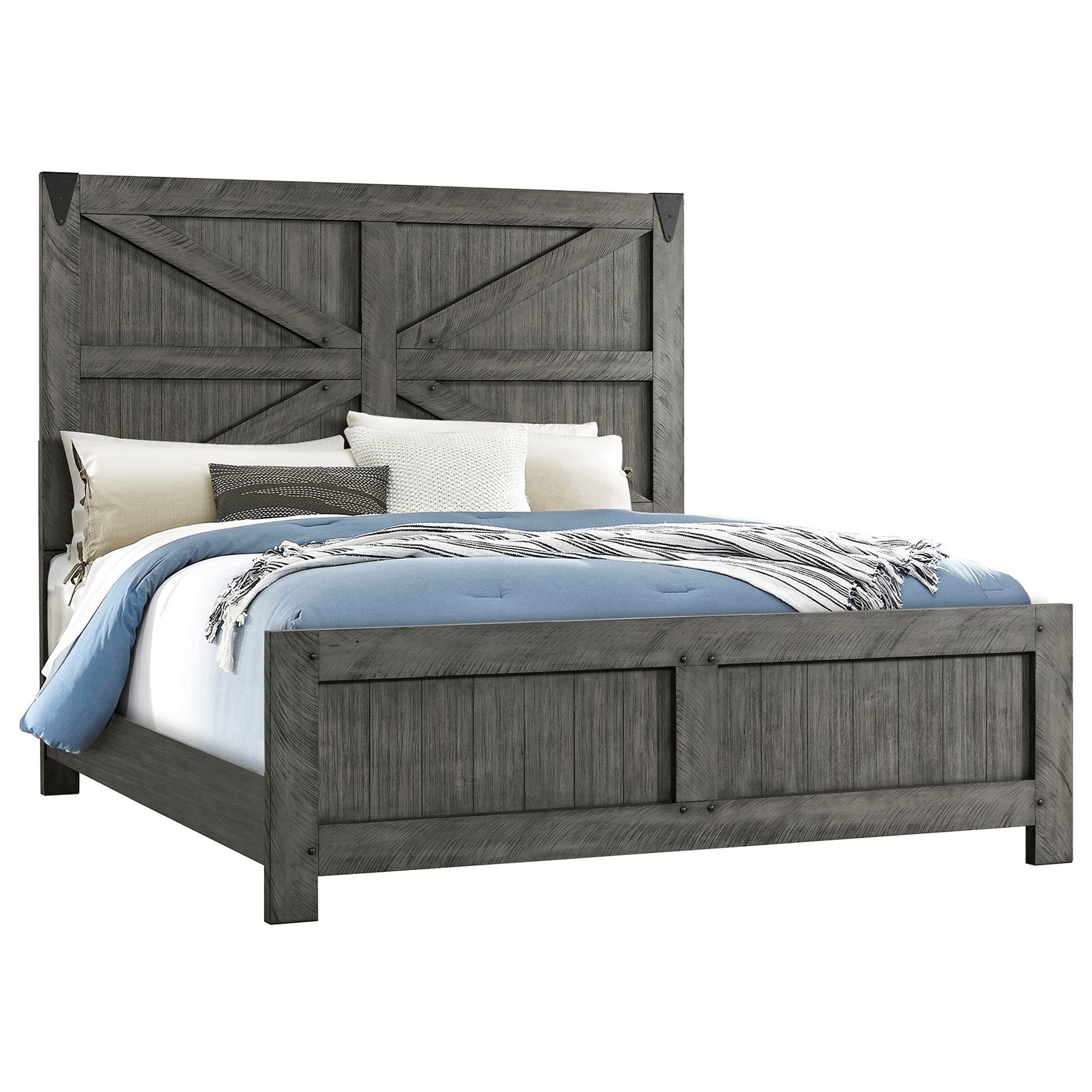 Old Forge King Panel Bed by Lane at Darvin Furniture
