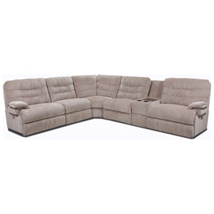 Casual Power Reclining Sectional with Storage Console