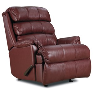 Casual Pad-Over-Chaise Rocker Recliner