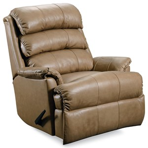 Casual Pad-Over-Chaise Rocker Recliner with Power