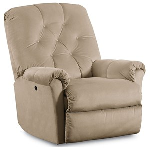 Miles Pad Over Chaise Tufted Back Rocker Recliner with Power