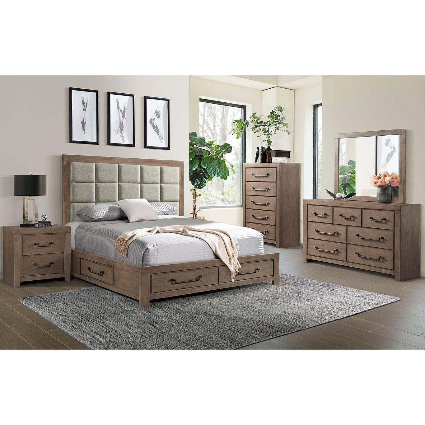 Urban Swag King Bedroom Group by Lane at Powell's Furniture and Mattress